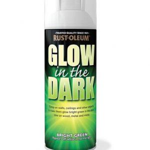 Glow in the dark aerosol
