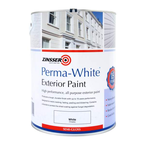 Zinsser Perma White Interior Exterior Semi Gloss Paint